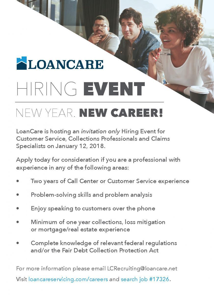 Loancare Hiring Event Ad