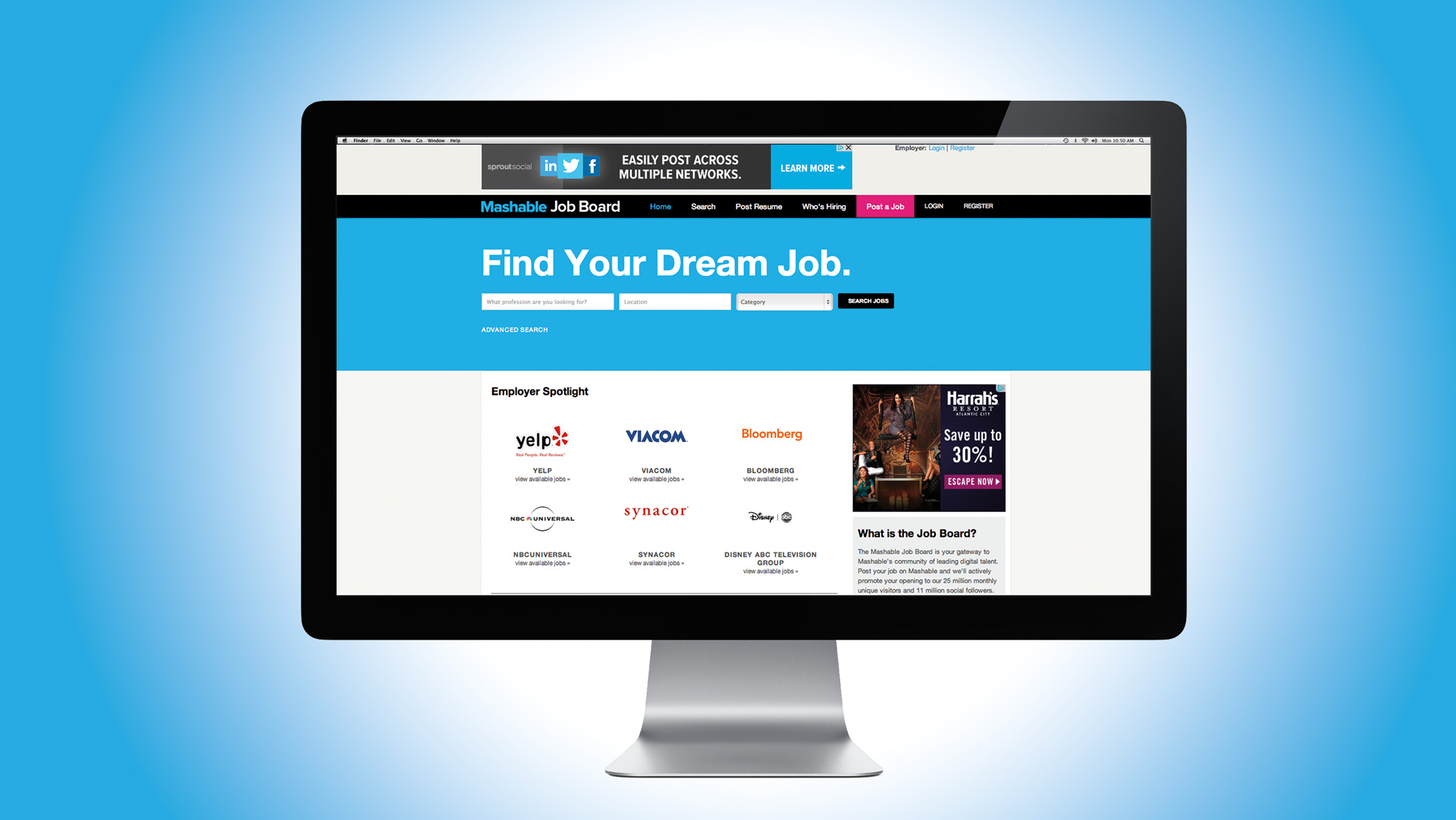 mashable job board