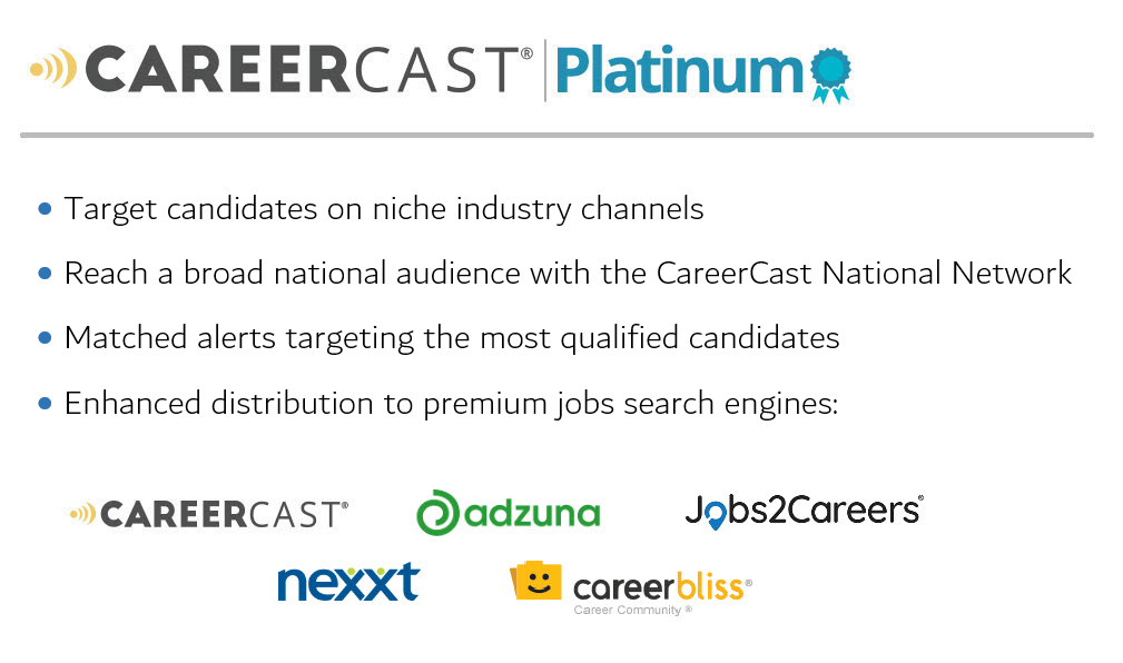 30 day job posting careercast platinum careercast diversity network best online distribution including local job sharing - Find Local Jobs Using Local Job Search Sites