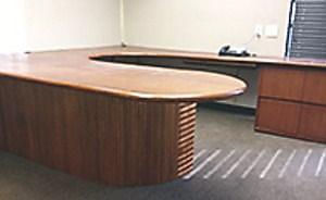 huge desk small conference table & 4 chairs custom made