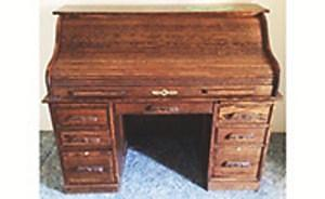 Roll Top Golden Oak Desk